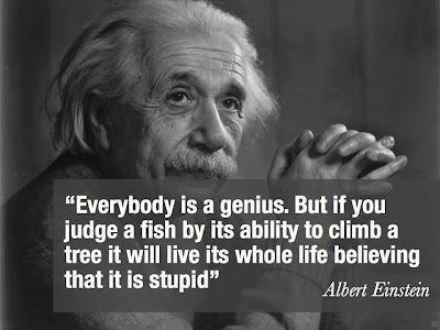 Albert Einstein Everybody is a genius